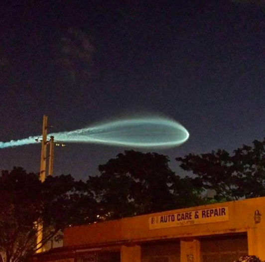 UFO in Miami Airport or Failed Rocket?