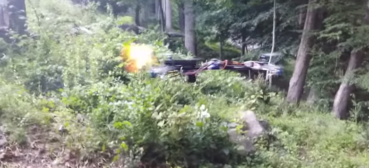 Kid Customized a Drone to Fire Bullets and called it a Flying Gun