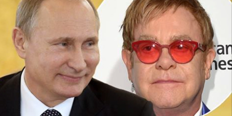 Elton John duped by Russian Pranksters pretending to be President Vladimir Putin